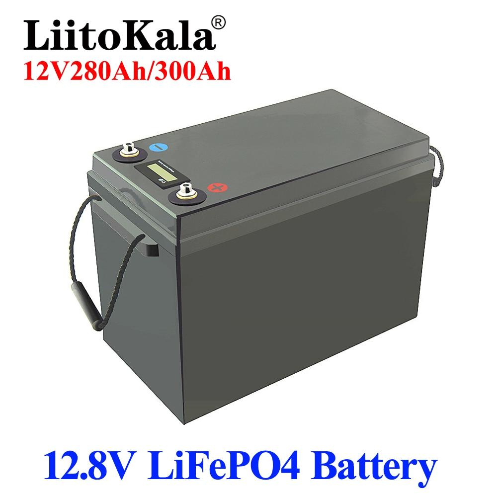 LiitoKala 12V 280AH 300Ah LiFePO4 بطارية حزمة مع 150A BMS 12.8v 300ah LiFePO4 البطارية