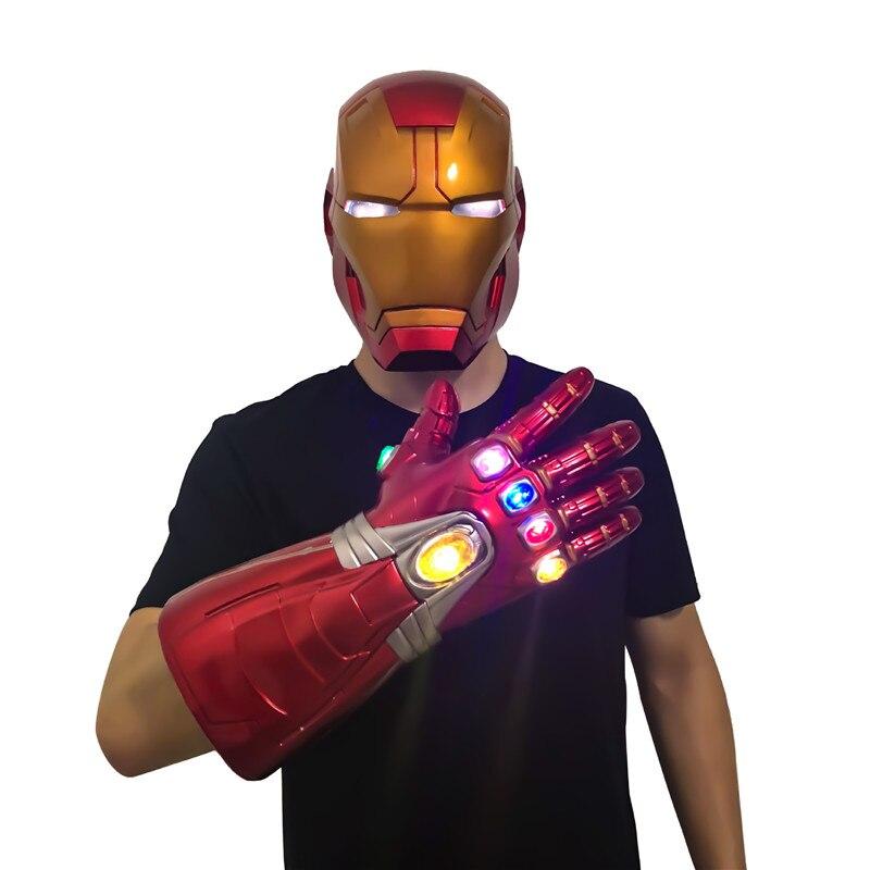 11 Homem De Ferro Avengers Endgame Cosplay Capacete Máscara com Luz LED de Detecção de Toque de Super-heróis da Marvel Tony Stark Homem do Capacete Da Motocicleta