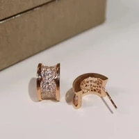classic luxury only zircon jewelry bv original fashion women earrings with rose gold earrings valentines day gift