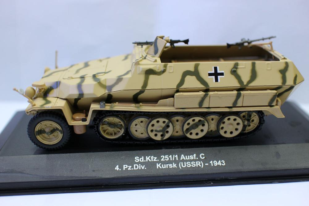 Alyak-báscula Sd. kfz, escala 1/43 Tanque fundido a presión para colección, 251/1...