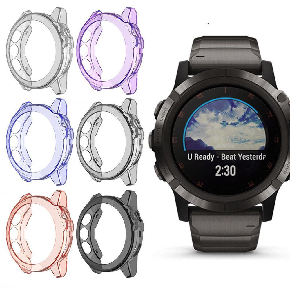 Clear TPU Frame Protector Watch Case Cover Shell For Garmin   Fenix6S Fenix6  Fenix6X Smart watch Wearable accessories