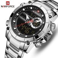 NAVIFORCE Men Dual Display Watch Top Brand Luxury Business Quartz Watches Mens Fashion LED Analog Digital Waterproof Wrist Watch