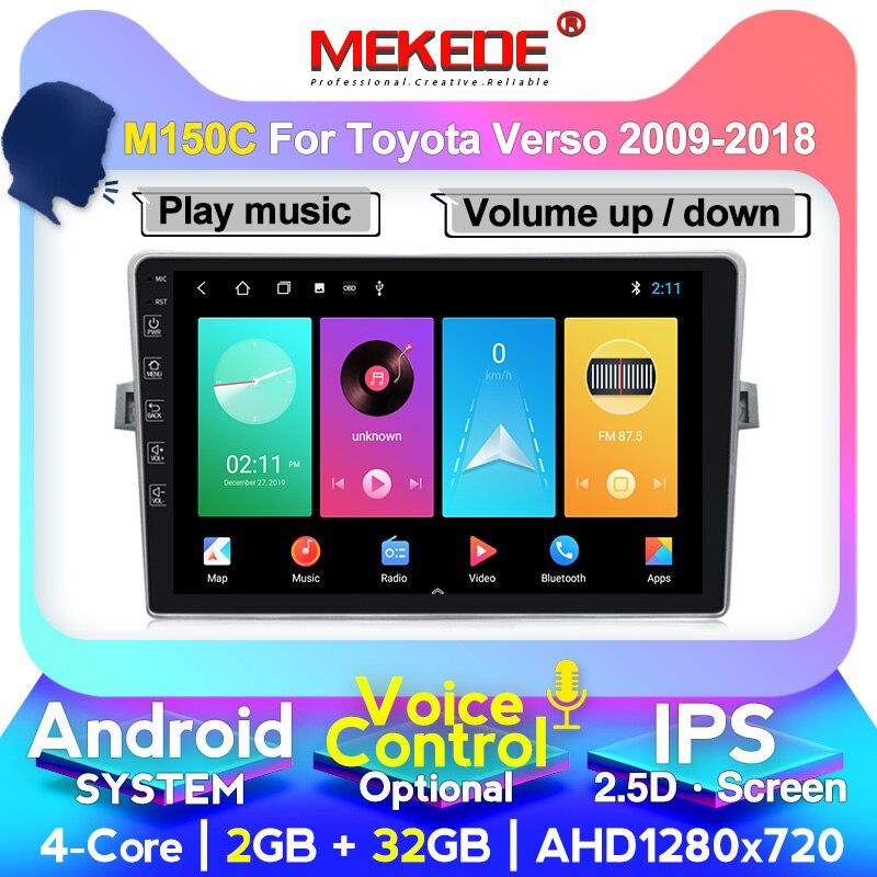 Radio de coche MEKEDE M400 Octa Core para Toyota Verso 2011 2012 2013 2014 2015 2016 soporte de navegación GPS, Carplay Wifi IPS