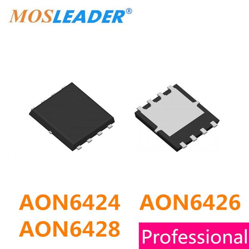 Mosleader AON6424 AON6426 AON6428 DFN5X6 100 قطعة 30V QFN8 N-قناة عالية الجودة Mosfets