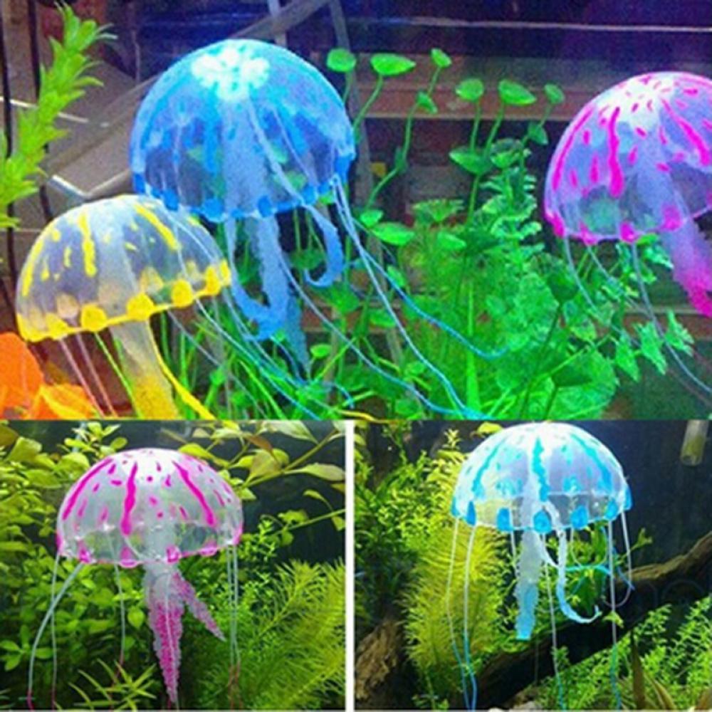 AliExpress - Hot New Hot Glowing Effect Artificial Jellyfish Fish Tank Aquarium Decoration Mini Submarine Ornament Underwater Pet Decoration