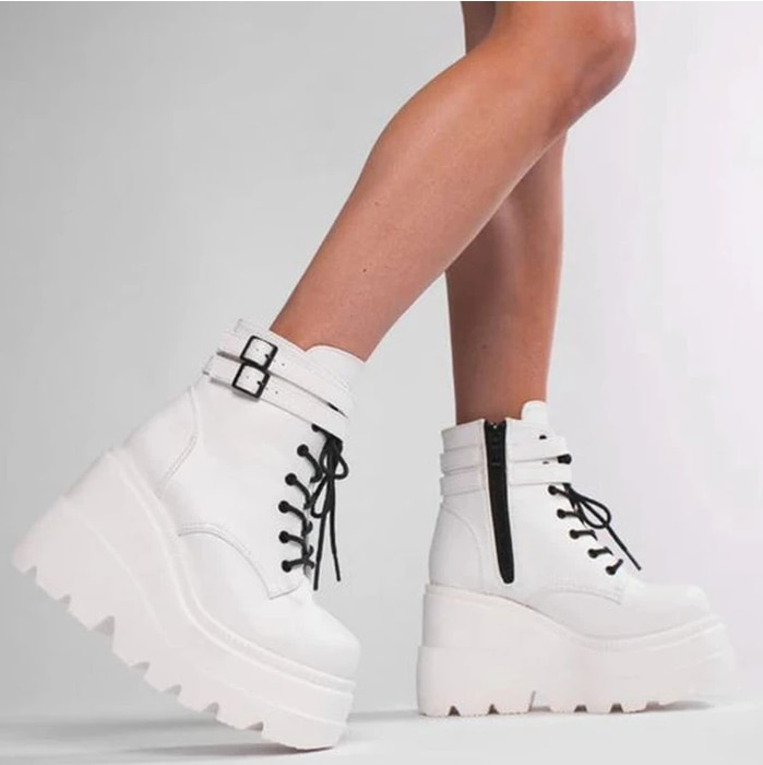 Zapatos de salón alto para mujer, botas de salón alto de alta calidad, estilo punk, nova, 2021