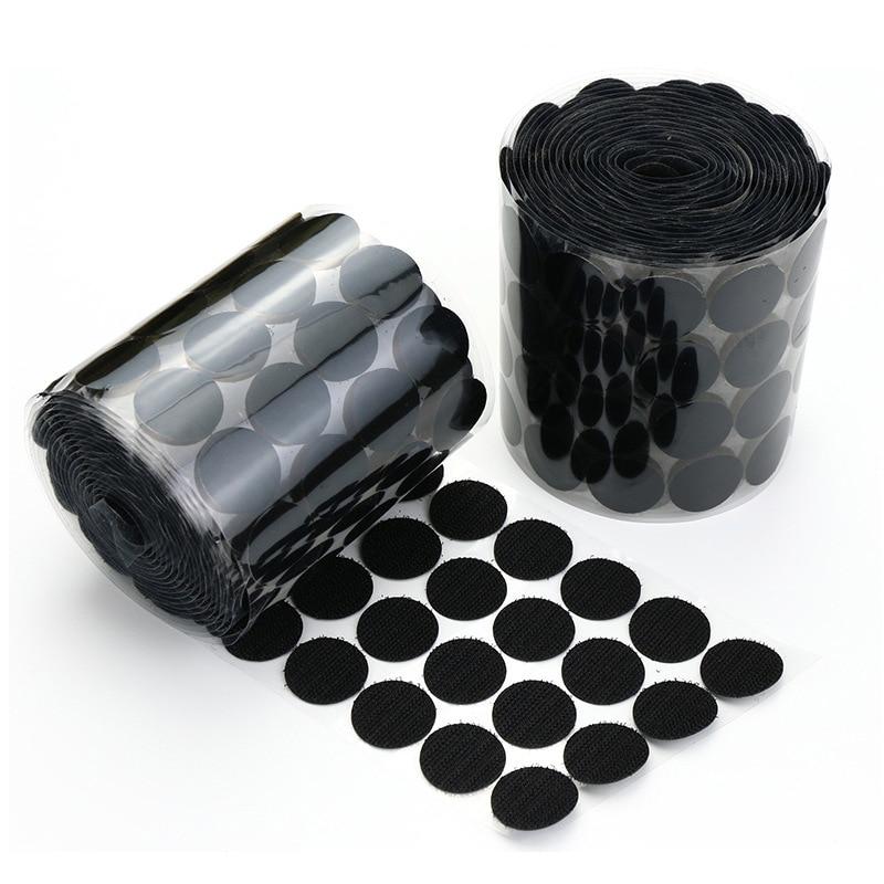 10/15/20/25mm Self Adhesive Fastener Tape Velcros Dots White Black Hook Loop Sticker Round Strong Klittenbandsluiting Tap