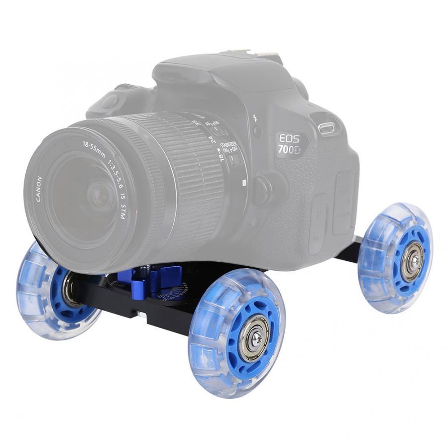 Practical Steady DSLR Desktop Camera Video Photograph Rail Rolling Track Slider Skater Table Dolly Car Max 10KG Load