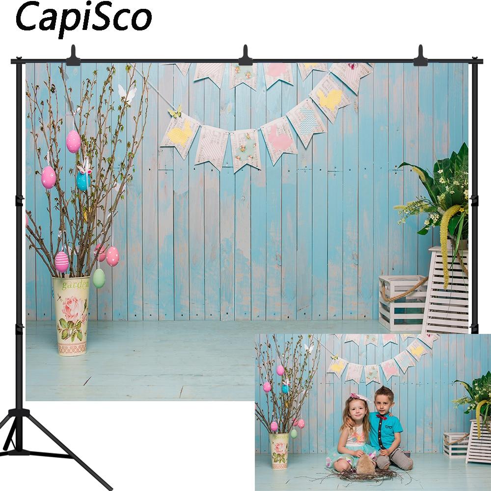 Capisco fotografía telón de fondo huevo de Pascua primavera habitación madera pared decoración chico recién nacido cabina de estudio fotográfico photocall