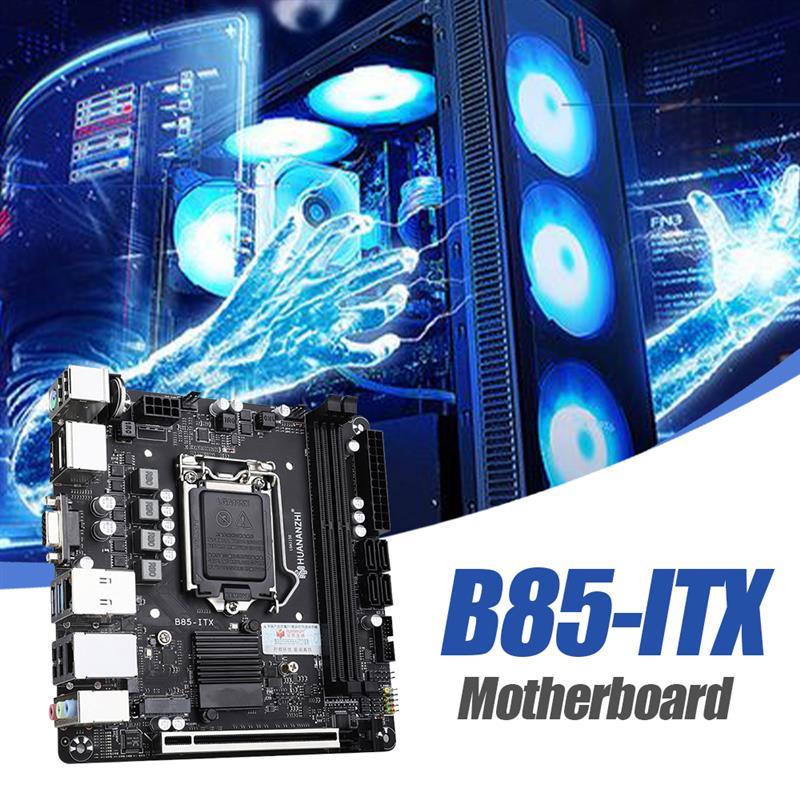 HUANANZHI B85-ITX اللوحة 2xDDR3 الذاكرة M.2 واجهة DDR3 1333/1066MHz دعم LGA 1150 المعالجات