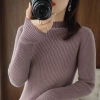 woman sweaters chandails no pilling slim turtleneck sweater womens pullover knitwear autumn winter black inner