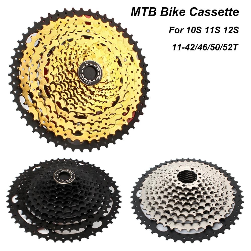 Racework MTB Bike Cassette 10S 11S 12S 11-52T Mountain Bicycle Freewheel Cassette Sprocket Bike Accessories Parts