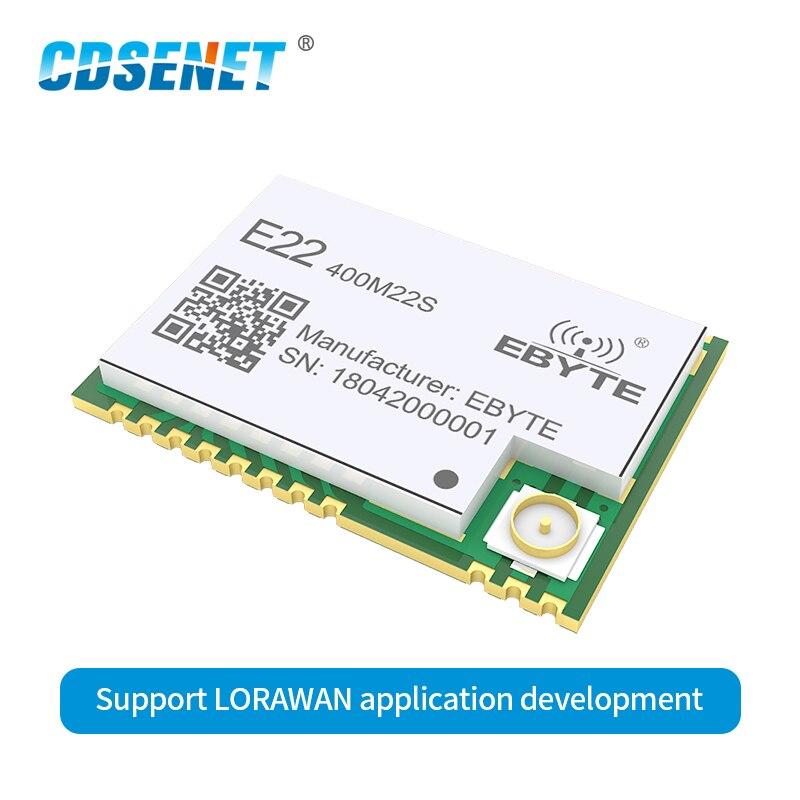 10PCS SX1262 SX1268 RF Wireless Module LoRaTM Modulation GFSK SMD CDSENET E22-400M22S SPI 22dBm 7km IPEX/Stamp Hole IoT
