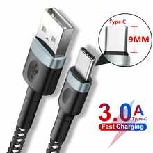 3A Fast Charge 9mm Long Tip USB Type C Charger Cable for Oukitel K10 K6 Blackview BV9900 BV9900E BV9600 BV6600 Pro UMIDIGI BISON