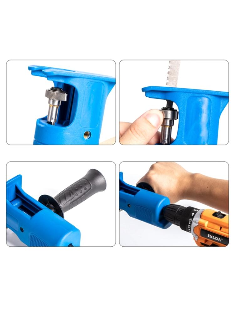 Cordless Reciprocating Saw Adapter Set Electric Drill Converter Modified Tools 11UA