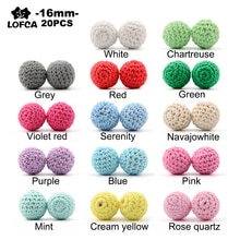 LOFCA 20pcs Wooden Crochet Beads 16mm Food Grade Rodent DIY Baby Pendant Necklace Baby Teether child