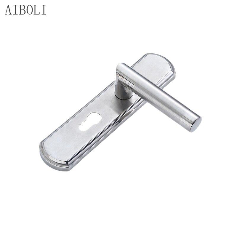 الفولاذ المقاوم للصدأ ضبط مقبض قفل الباب الحديثة الحد الأدنى غرفة نوم قفل الباب