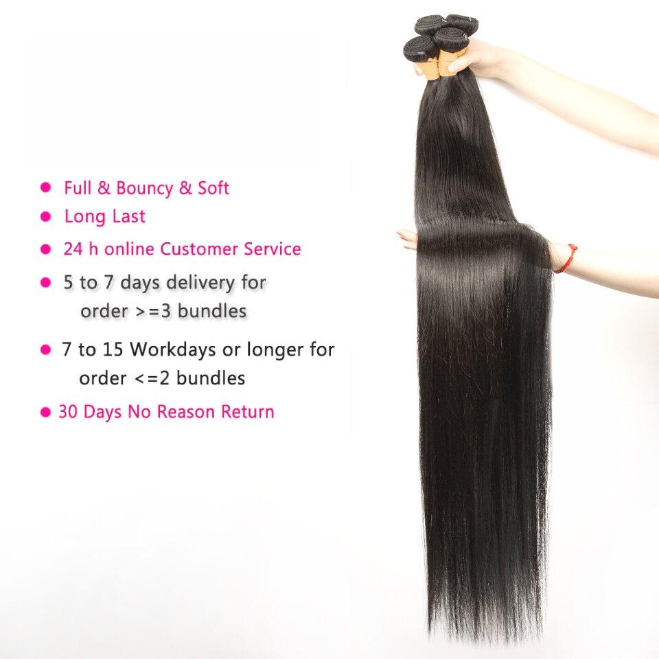 Brazilian Straight Hair Bundles 100% Natural Human Hair 2