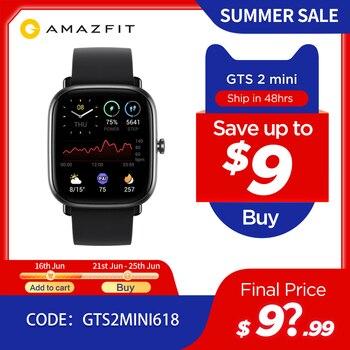 Глобальная версия Amazfit GTS 2 мини GPS Smartwatch активно-матричные осид, Дисплей 70 спортивных режимов монитор наблюдения за сном, умные часы для Android iOS