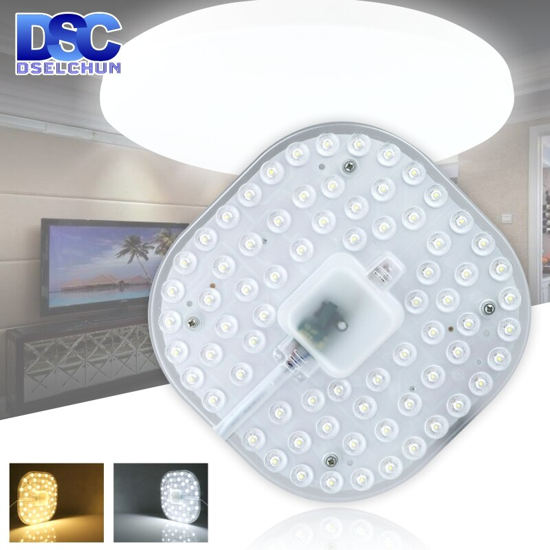 12w 18w 24w 32w ac220v led downlight lamp plate ceiling light source module replace u o type cfl esl tube bulb 20w 30w 40w 50w LED Ceiling Lamps Module 12W 18W 24W 36W 2835SMD AC220V LED Light Replace Ceiling Light Source Easy Installation Indoor Lighting
