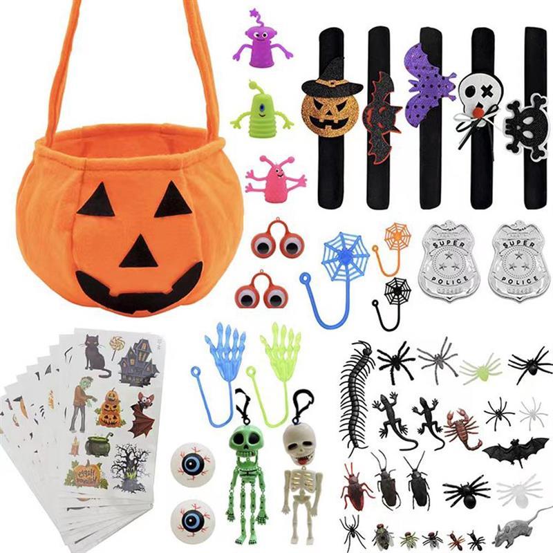 Реквизит для Хэллоуина, аксессуар для вечевечерние НКИ на Хэллоуин, сувениры, тыква, конфеты, ведро, игрушечный набор для детей сменные сувениры цельные конфеты для мужчин