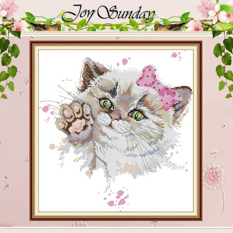 Diseños de gato lindo punto de cruz contado 11CT 14CT juego de punto de cruz DIY al por mayor Kits de punto de cruz chino bordado costura