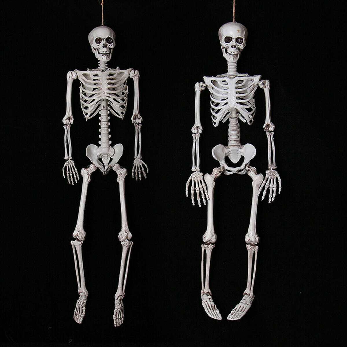 NEW 1/2PCS 90cm Size Simulation Human Skeleton Ornament Halloween Party Bar Haunted House Skeleton Decor Prop