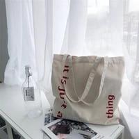 2021 womens shoulder bag bag for shopper canvas tote bag fashion high quality korean style letter printed solid color handbags
