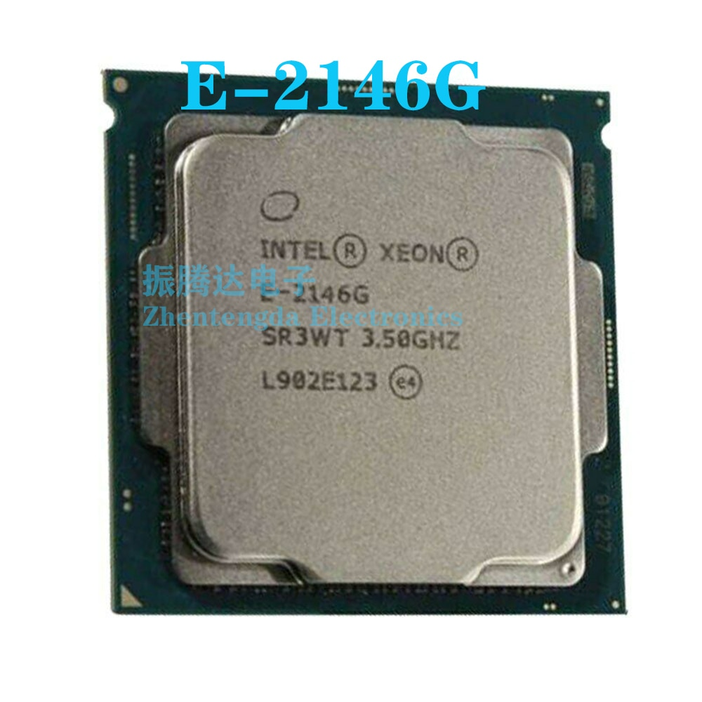 Intel Xeon E-2146G CPU 3.5GHz 12MB 6 Core 12 Thread LGA 1151 E-2146G CPU Processor