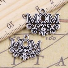 12 pièces breloques maman fleur 18x22mm pendentifs tibétains bijoux anciens faisant bricolage artisanat fait main pour Bracelet collier