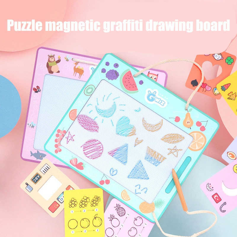 Children's Magic Magnetic Drawing Board Kids Baby Early Education Puzzle Enlightenment Coloring Erasable Whiteboard Painting
