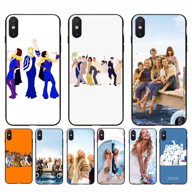 Yinuoda mamma mia caso de telefone capa para o iphone 11 8 7 6s plus x xs max 5 5S se 2020 xr 11 pro capa