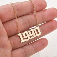 Modyle Nieuwe Mode-sieraden Speciale Datum Jaar Nummer Ketting Voor Vrouwen 1989 Tot 2000 Collares