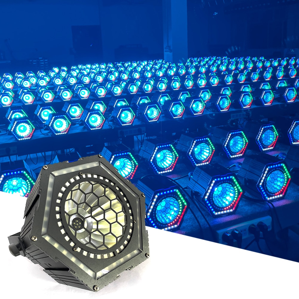 1PCS RGBW 4in1 Wash Par Light DMX512 72 SMD 3in1 RGB Stage Light Disco DJ led Music Party Wedding Wash Effect Strobe Lights