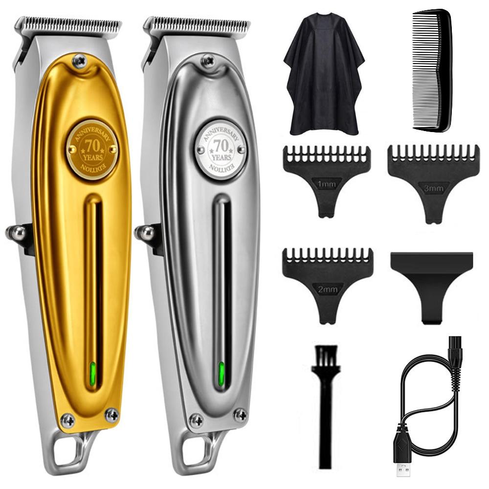 Kemei 1949 الكهربائية الحلاق عدة كامل المعادن الإسكان برو الشعر المتقلب للرجال ليثيوم لون قوية أداة تهذيب اللحية التشطيب آلة