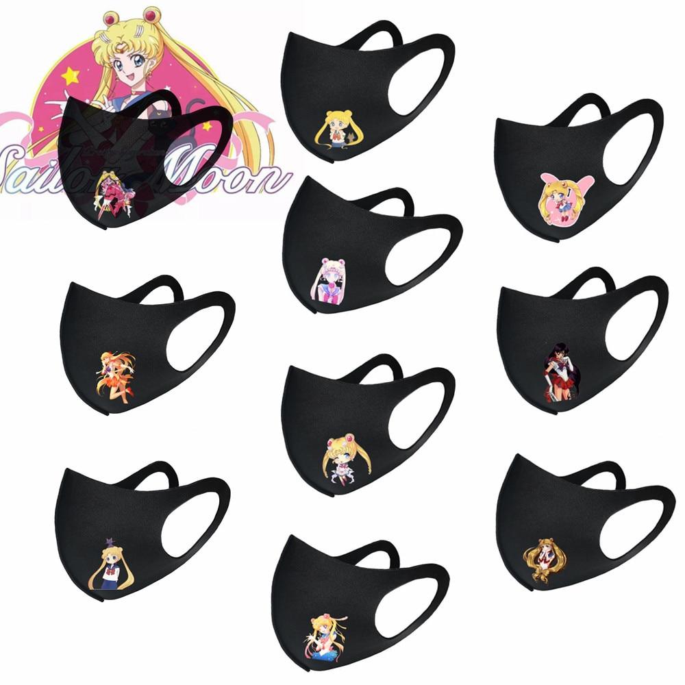 10 Uds Sailor Moon Anime Cosplay máscara Tsukino Usagi princesa serenidad máscara Kawaii dibujos animados fresco polvo enmascarado regalo