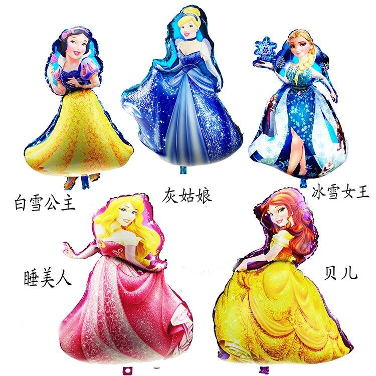 Disney-Blancanieves Barbie, Blancanieves, niña, sorpresa, fiesta de cumpleaños decorativa, dibujos animados, globo...