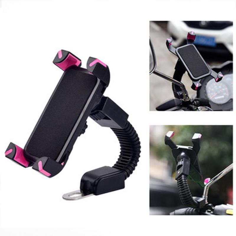 Espejo retrovisor ABS para motocicleta, soporte para teléfono móvil, soporte para bicicleta, soporte para iphone, samsung, huawei, xiaomi