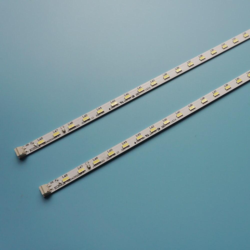 جديد 2 قطعة 48LED 472 مللي متر LED شريط إضاءة خلفي ل كونكا التلفزيون 35018221 LED42R5500FX الألومنيوم الركيزة