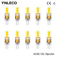 10 pièces G4 LED ampoule 12V AC/DC 2W COB LED G4 lumière pas de scintillement 360 degrés équivalent 20W halogène lampe chaud naturel blanc froid