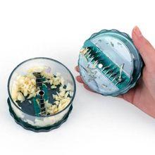 Delige Multi-funcional prensa cortadora de ajo caja PS fuera y planchas de hierro ajo jengibre Twister herramienta vegetal para el hogar