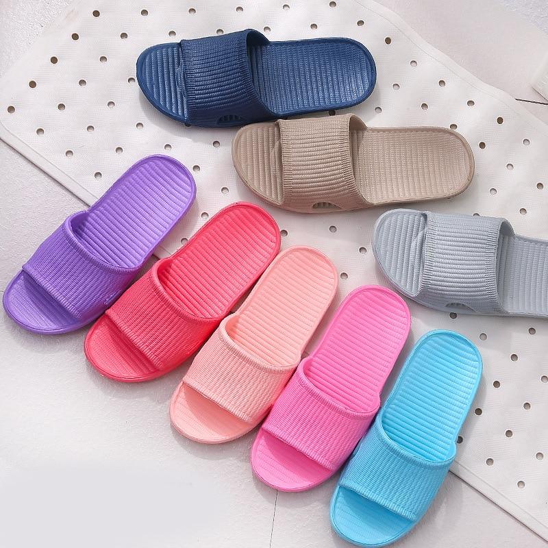 Домашние Тапочки для ванной Нескользящие летние тапочки на плоской