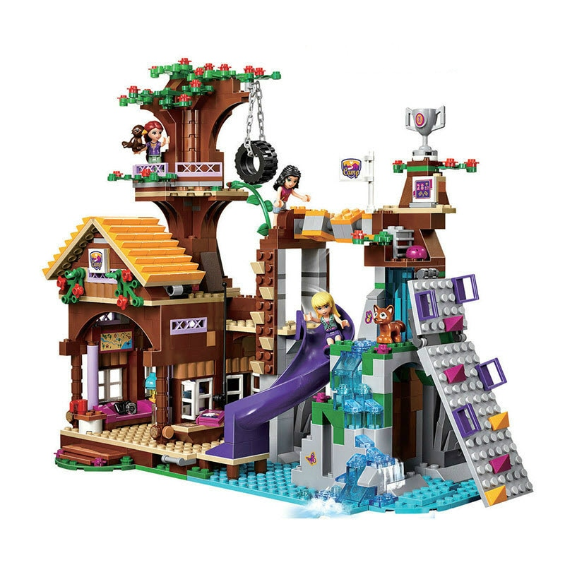 Совместим с Lepining Friends Adventure Camp Tree House emma Миа фигурка модель BuildingToy хобби для детей