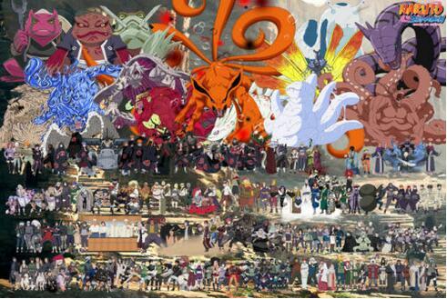 Naruto Shippuden Janpan Anime All Characters Art Film Print Silk Poster Home Wall Decor 24x36inch