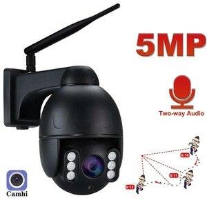 5MP WiFi PTZ Camera Outdoor AI Human Detect Two Way Audio Home Security IP Camera 4X Optical Zoom CCTV Dome Camera P2P  Camhi