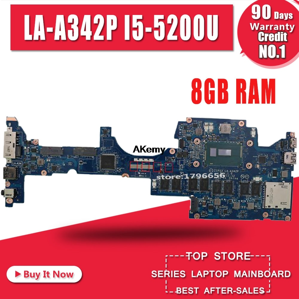 ZIPS3 LA-A342P اللوحة المحمول لينوفو اليوغا 12 S1 اختبار اللوحة الأصلية 8G-RAM I5-5200U