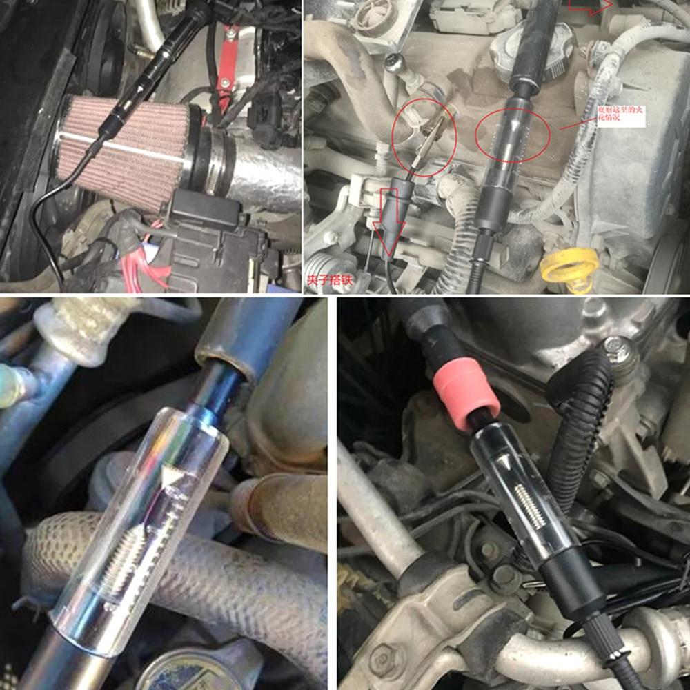 Car High-voltage Line Detector Spark Plug Ignition System Tester Flashover Gauge Detector Auto Diagnostic Tool Sparking Test