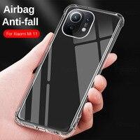 Мягкий прозрачный силиконовый чехол для телефона для Xiaomi Mi 11 Lite 4G или 5G Корпус противоударный защитный чехол для Xiaomi 11 Lite чехол Coque