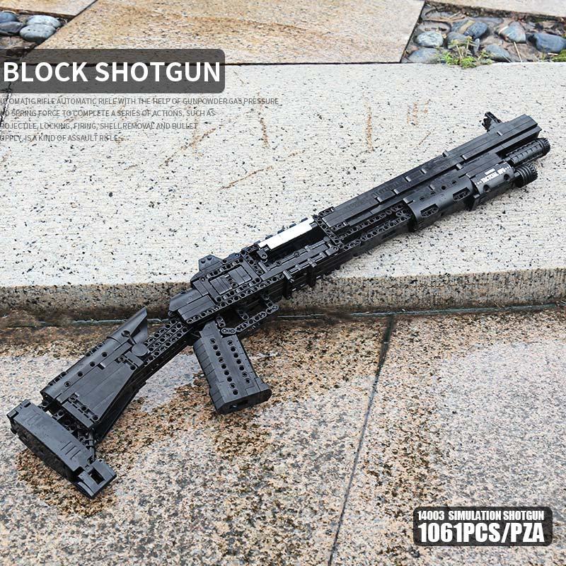 MOULD KING ASAMBLEA DE 14003 de el arma el Benelli M4 Super 90 arma automática de bloques de construcción ladrillos juguetes de los niños
