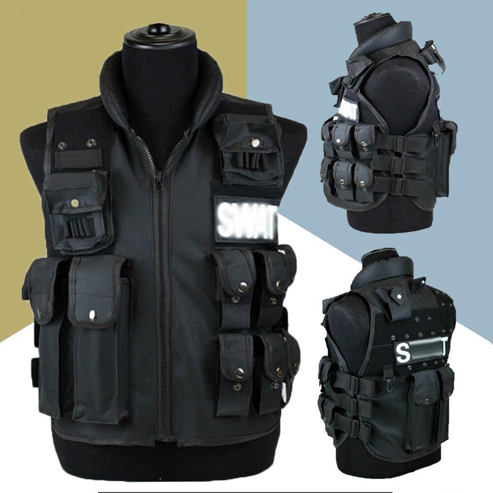 Тактический жилет с 11 карманами, мужской охотничий жилет, уличный жилет, военный тренировочный жилет CS, защитный модульный жилет безопасности